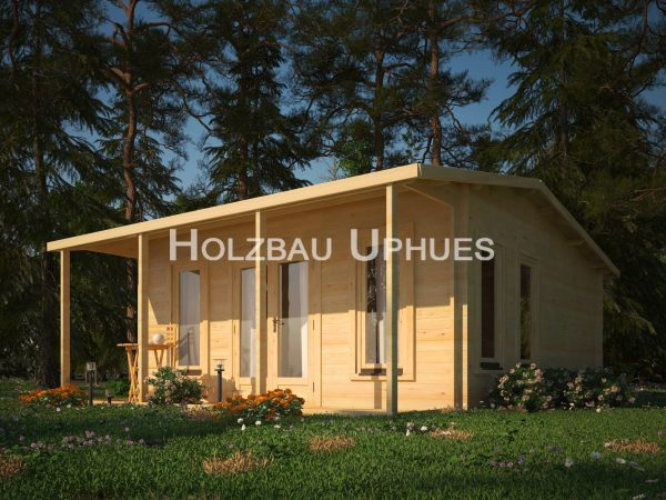 freizeithaus peyron aus nordischer fichte mit 2 zimmern und 24,5m² grundfläche