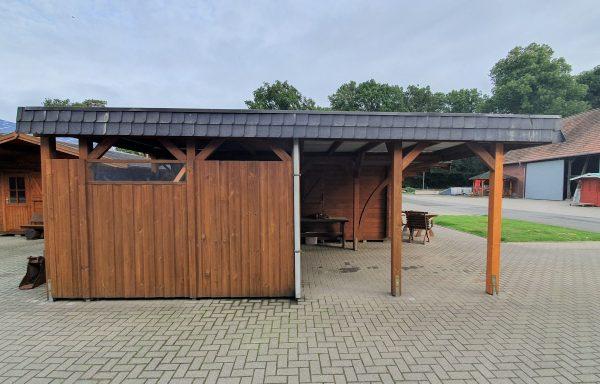 Massivholz Carport